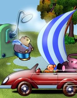小鼠和大象的创意图片04