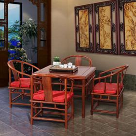 【原来生活】中式实木茶桌 非洲花梨木 客厅雕花茶桌 泡茶台