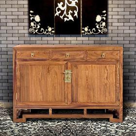 【原来生活】新中式云回餐边柜 餐厅家具 端方质朴典雅回纹 多储物空间 新款实木收纳柜