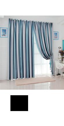 伊佳仁 现代条纹卧室客厅定制窗帘成品遮光