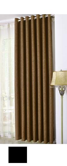 三巧家纺 加厚棉麻专业遮光窗帘 现代中式