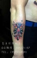欧美猫头鹰纹身、南昌最好的纹身店