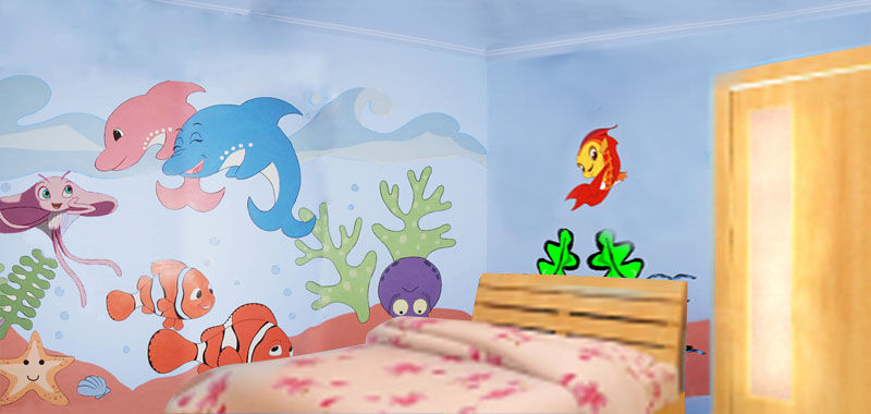 儿童墙绘素材图片大全
