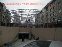 大连钢结构停车场入口通道,大连钢结构停车场,大连钢结构施工