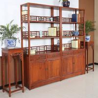 【原来生活】中式简易书柜 书房实木书柜