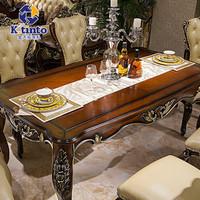 金天拓家具 欧式高档餐桌 实木餐桌椅组合