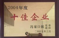 2004年度十佳企业