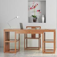 【原来生活】新中式云纹系列云纹架几书桌椅