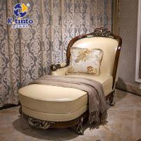金天拓家具 欧式贵妃椅 法式卧室沙发躺椅