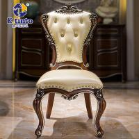 金天拓家具 欧式实木复古餐椅组合 雕花真