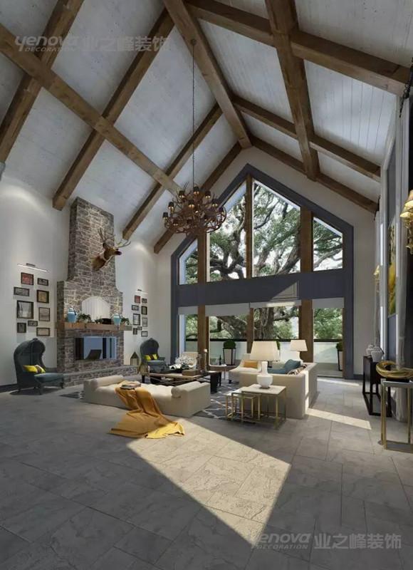 1200平米美式别墅豪宅设计案例展示 成都业之峰别墅装修