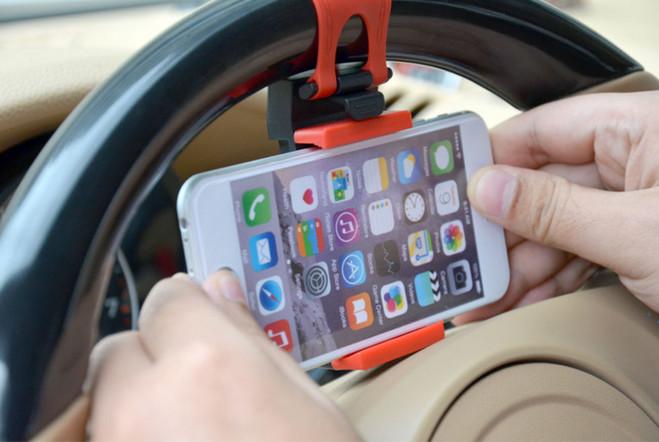 车载通方向盘导航手机支架 支持6plus/note大屏手机 颜色 随机发