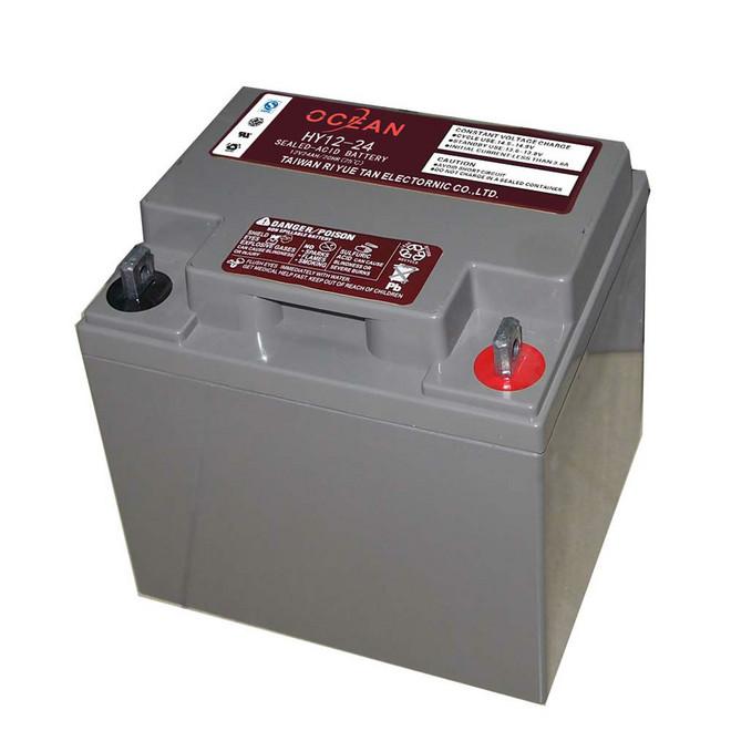 主要由电池槽、电池盖、正负极板、稀硫酸电解液、隔板及附件构成。 一、工艺制造简介 铅粉制造:将1#电解铅用专用设备铅粉机通过氧化筛选制成符合要求的铅粉。 板栅铸造:将铅锑合金、铅钙合金或其他合金铅通常用重力铸造的方式铸造成符合要求的不同类型各种板板栅。 极板制造:用铅粉和稀硫酸及添加剂混合后涂抹于板栅表面再进行干燥固化即是生极板。 极板化成:正、负极板在直流电的作用下与稀硫酸的通过氧化还原反应生产氧化铅,再通过清洗、干燥即是可用于电池装配所用正负极板。 装配电池:将不同型号不同片数极板根据不同的需要组装成