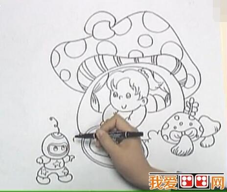 儿童画科幻画详细教程