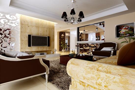 很多人把电视背景墙设计成客厅影视背景墙