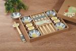 绘陶瓷碟+筷架+筷子